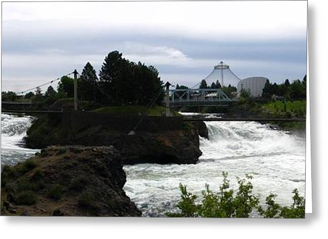 Spokane Greeting Cards - The Falls Greeting Card by Greg Patzer
