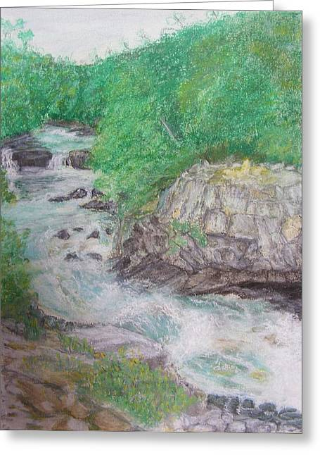 Salmon Pastels Greeting Cards - The Falls Of Shin Greeting Card by Thomas McCaskie
