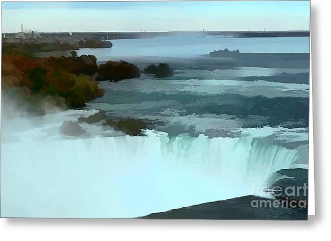 Artistic Landscape Photos Greeting Cards - The falls-Oil Effect Image Greeting Card by Tom Prendergast