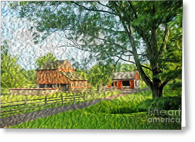 Pa Barns Greeting Cards - The Family Barn Greeting Card by Paul W Faust -  Impressions of Light