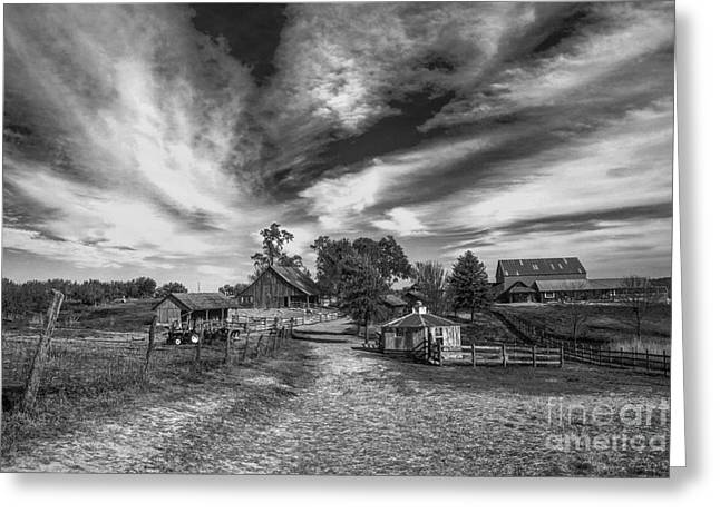 Outbuildings Greeting Cards - The Family Farm Greeting Card by Lynn Sprowl