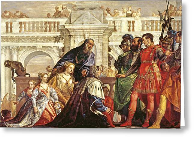 Mannerist Greeting Cards - The Family Of Darius Before Alexander The Great 356-323 Bc, 1565-67 Greeting Card by Veronese