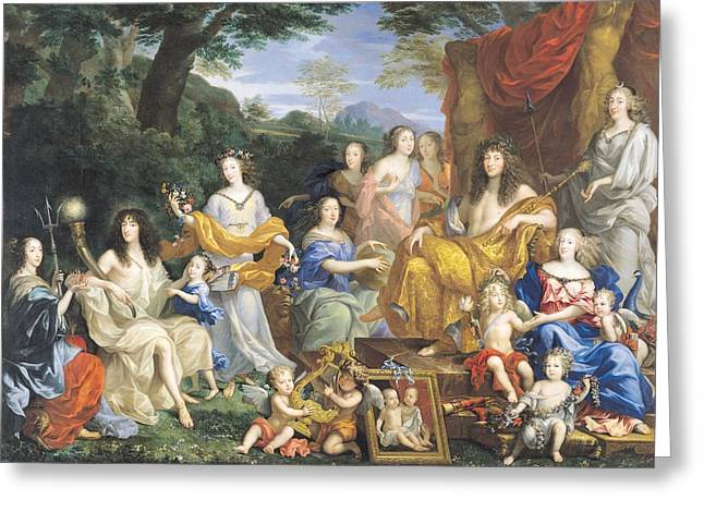 The Family Of Louis Xiv 1638-1715 1670 Oil On Canvas For Details See 39054-39055 Greeting Card by Jean Nocret