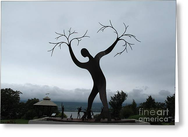 The Family Of Man Greeting Card by Andre Paquin