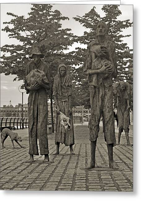 The Famine Dublin Ireland Greeting Card by Betsy C Knapp