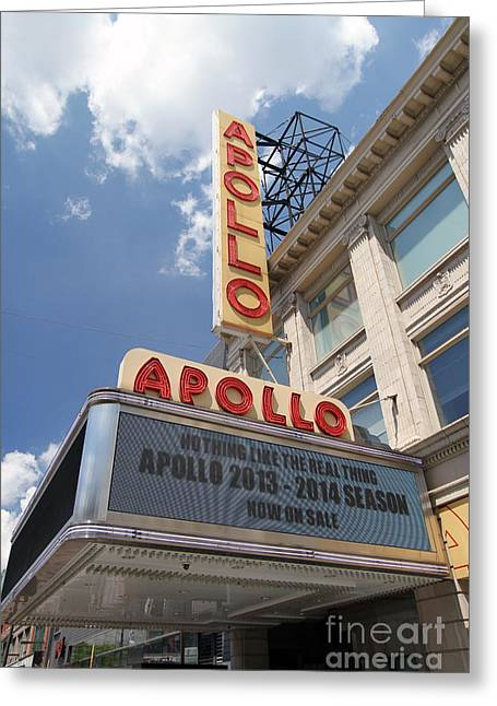 Adam Clayton Greeting Cards - The famous Apollo Theatre in Harlem Greeting Card by Steven Spak