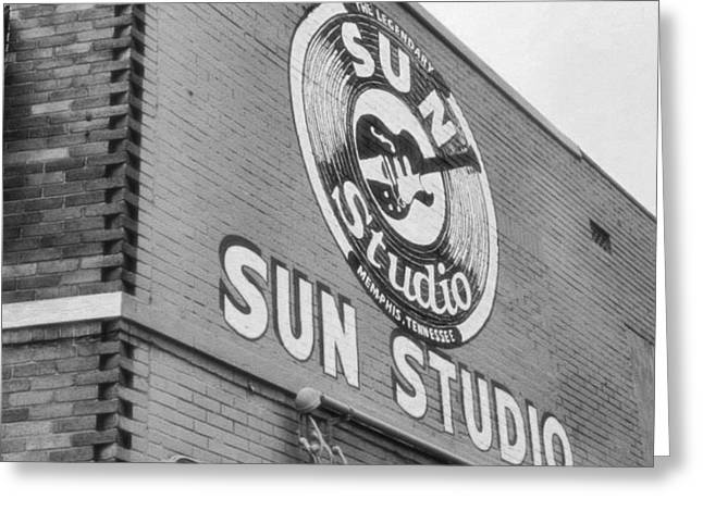 Iconic Guitars Greeting Cards - The Famous Sun Studio In Memphis Tennessee Greeting Card by Dan Sproul