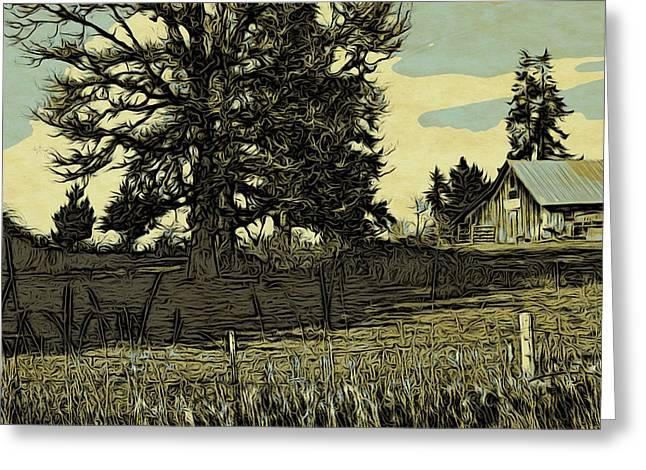 The Farm Greeting Card by Bonnie Bruno
