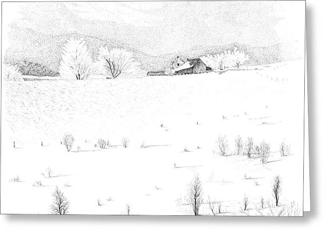 The Farm Greeting Card by Carl Genovese