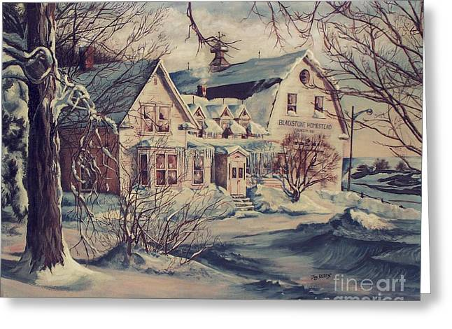 Old Maine Houses Greeting Cards - The Farm Greeting Card by Joy Nichols