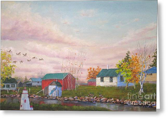 Mohamed Greeting Cards - The Farm Greeting Card by Mohamed Hirji
