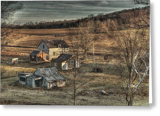 Barn In Woods Photographs Greeting Cards - The Farmer in the Dell Greeting Card by William Fields