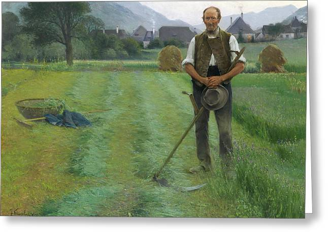 Farmers Field Greeting Cards - The Farmer Greeting Card by Kinzel