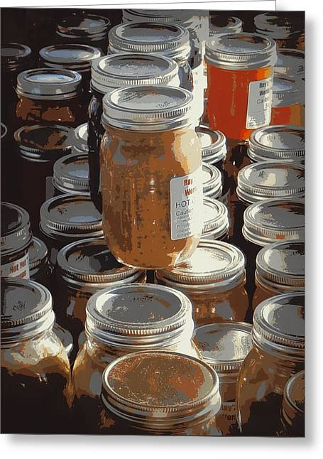 Mason Jars Greeting Cards - The Farmers Market Greeting Card by Karyn Robinson