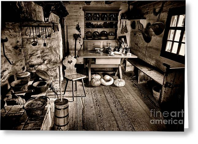 Pennsylvania Dutch Greeting Cards - The Farmstead Greeting Card by Olivier Le Queinec