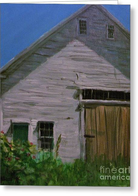 Maine Farms Paintings Greeting Cards - The Farn Greeting Card by Laura Webb