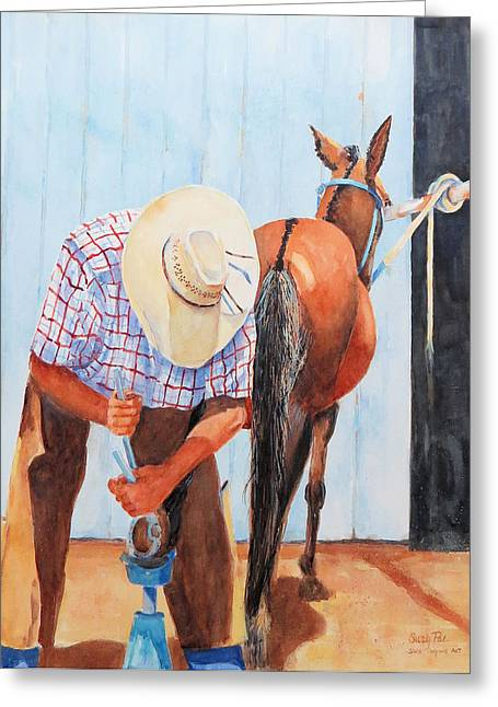 Farrier Greeting Cards - The Farrier Greeting Card by Suzy Pal Powell