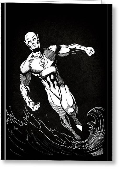 Spider-man Greeting Cards - The Fastest Man Alive Greeting Card by Mark Rogan
