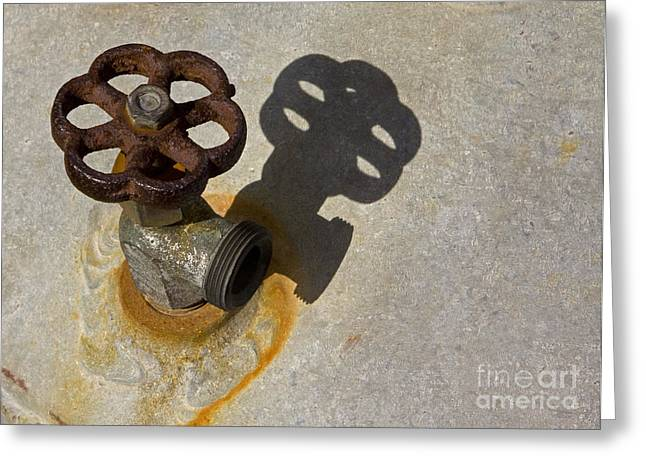 Faucet Greeting Cards - The Faucet   #1085 Greeting Card by J L Woody Wooden