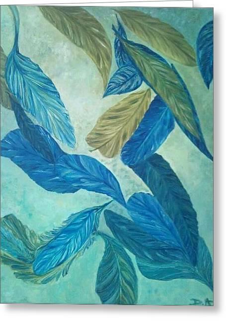 The Feather-leaf Morph Greeting Card by Derya  Aktas