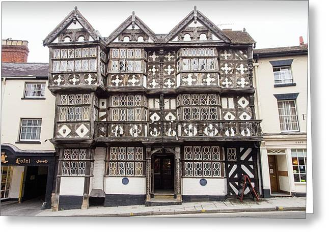 The Feathers Hotel In Ludlow Greeting Card by Ashley Cooper