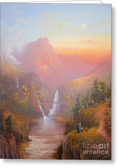 Best Sellers -  - Art Book Greeting Cards - The Fellowship Of The Ring Greeting Card by Joe  Gilronan
