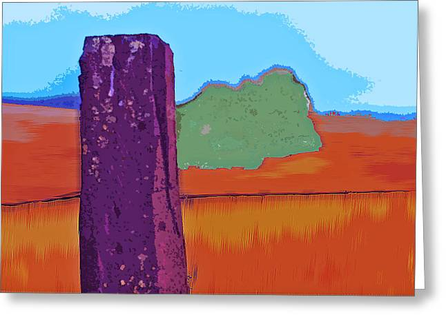 Goldrush Greeting Cards - The Fencepost Greeting Card by Charlette Miller