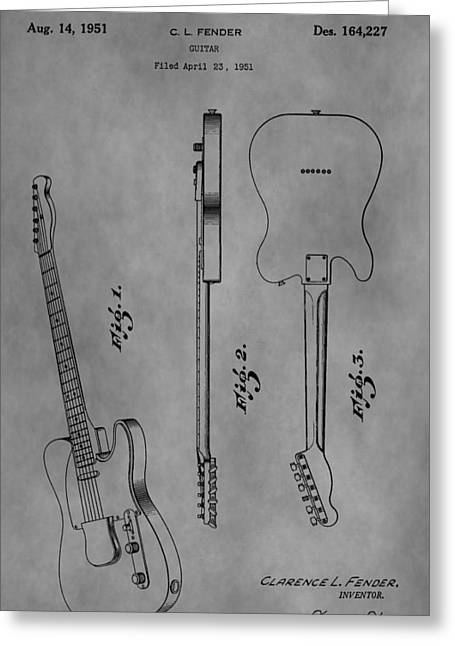 Rocks Drawings Greeting Cards - The Fender Telecaster Greeting Card by Dan Sproul