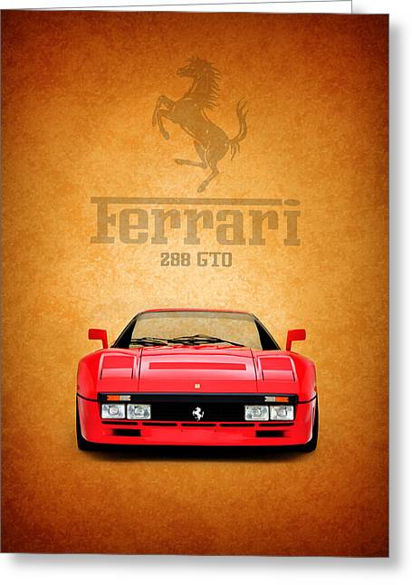 Ferrari Gto Classic Car Greeting Cards - The Ferrari 288 GTO Greeting Card by Mark Rogan