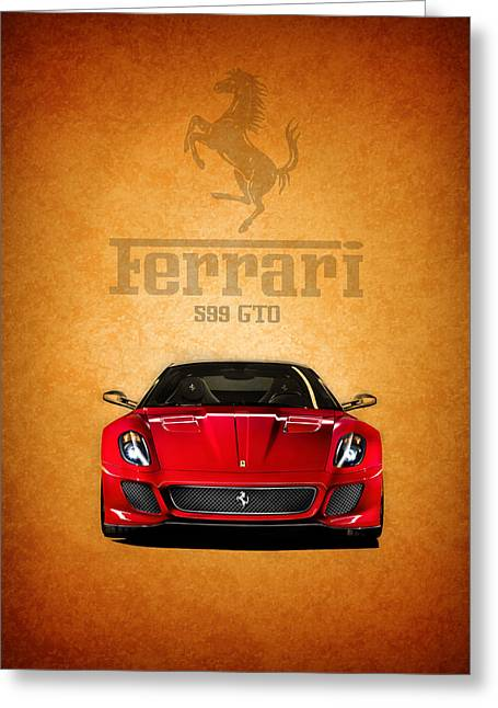Ferrari Gto Classic Car Greeting Cards - The Ferrari 599 GTO Greeting Card by Mark Rogan