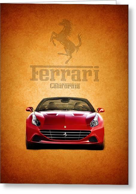 Red Ferrari Greeting Cards - The Ferrari California Greeting Card by Mark Rogan
