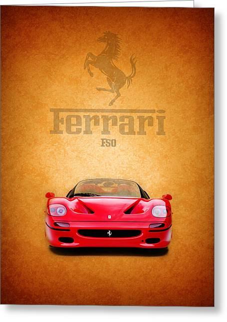Red Ferrari Greeting Cards - The Ferrari F50 Greeting Card by Mark Rogan