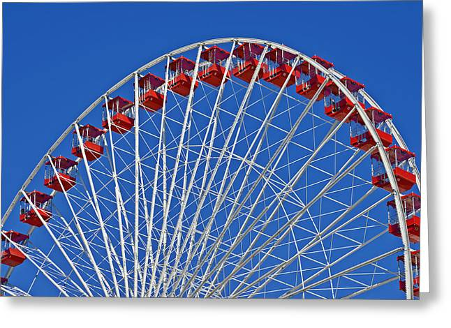 Wheels Greeting Cards - The Ferris Wheel Chicago Greeting Card by Christine Till