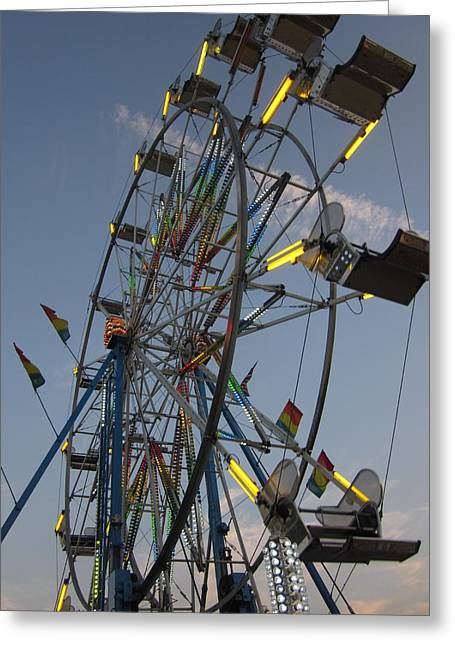 Guy Ricketts Photography Greeting Cards - The Ferris Wheel Greeting Card by Guy Ricketts
