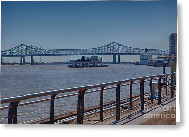Riverwalk Greeting Cards - The Ferry Greeting Card by Kay Pickens
