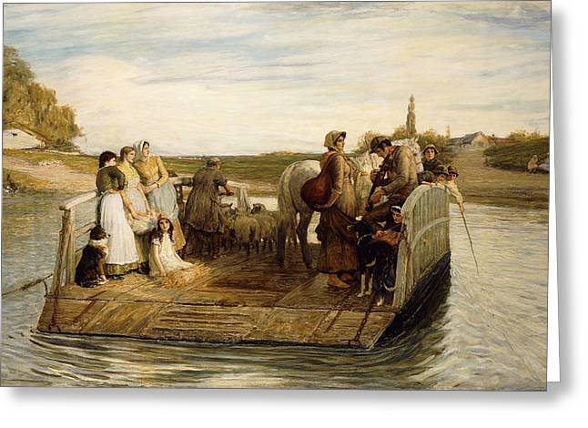 The Ferry Greeting Card by Robert Walker Macbeth