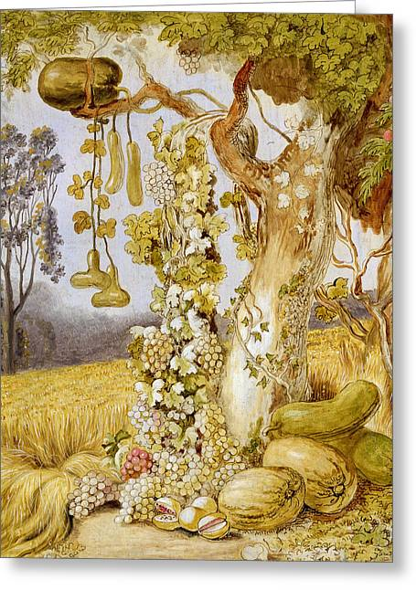 Melon Paintings Greeting Cards - The Fertility of the Earth Greeting Card by Johann Heinrich Wilhelm Tischbein