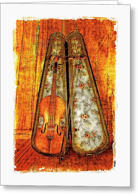 Violin Case Greeting Cards - The Fiddle Greeting Card by Roger Winkler
