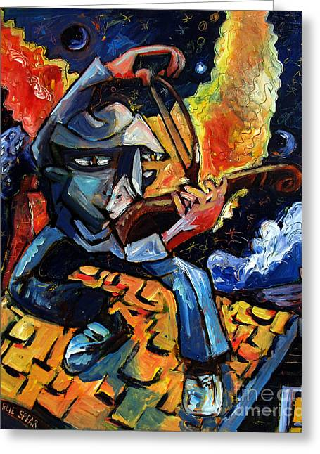 Fiddler Greeting Cards - The Fiddler Played The Bridegroom Was Coming Greeting Card by Charlie Spear