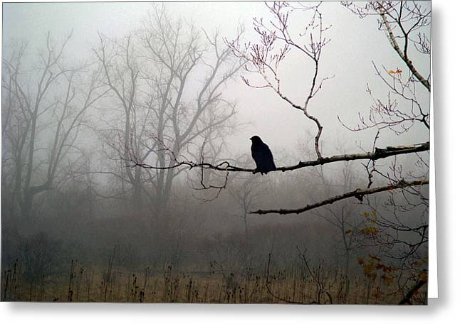 Corvidae Greeting Cards - The Field Greeting Card by Gothicolors Donna Snyder