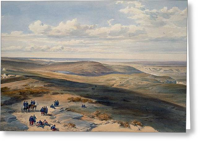 Battlefields Greeting Cards - The Field Of Inkerman, Plate From The Greeting Card by William
