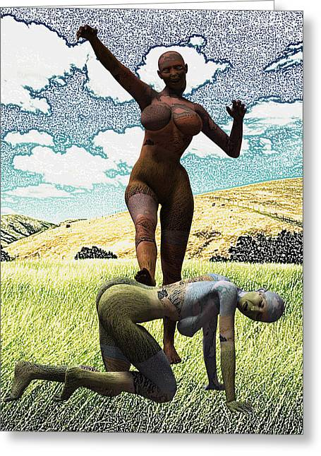 Original Paining Greeting Cards - The Field Of Pain Greeting Card by Sir Josef  Putsche