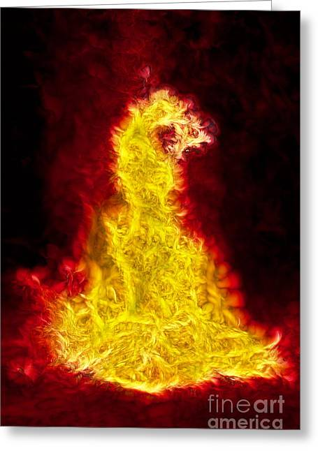 Nebuchadnezzar Greeting Cards - The Fiery Furnace No. 18 Greeting Card by Harold Bonacquist