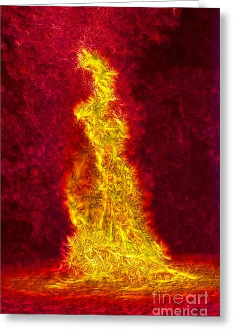 Nebuchadnezzar Greeting Cards - The Fiery Furnace No. 8 Greeting Card by Harold Bonacquist