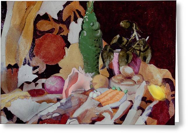 Recently Sold -  - Still Life With Fish Greeting Cards - The Fight We Never Had Greeting Card by David Zimmerman