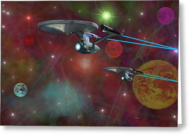 Enterprise Digital Art Greeting Cards - The Final Frontier Greeting Card by Michael Rucker