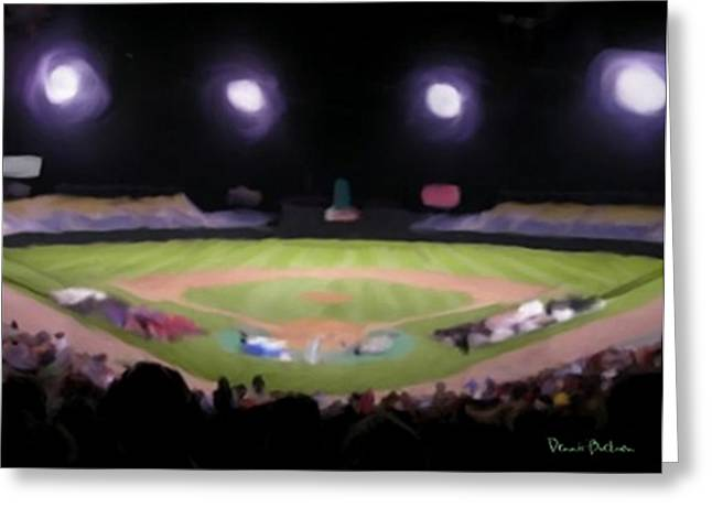 Baseball Field Mixed Media Greeting Cards - The Final Game Greeting Card by Dennis Buckman