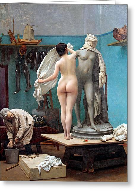 Jean Leon Gerome Greeting Cards - The final session Greeting Card by Jean-Leon Gerome