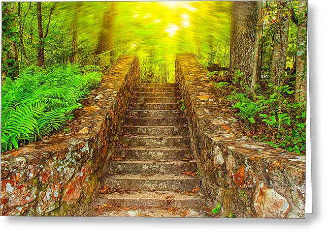 Stepping Stones Greeting Cards - The Final Steps Greeting Card by John Bailey