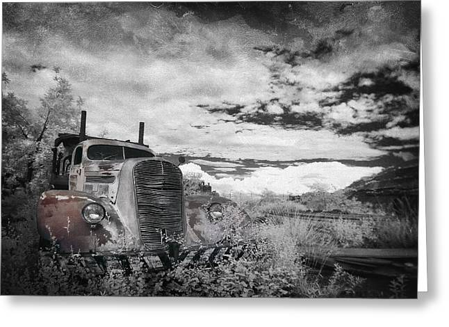 Old Truck Photography Greeting Cards - The Final Stop Greeting Card by Sean Foster